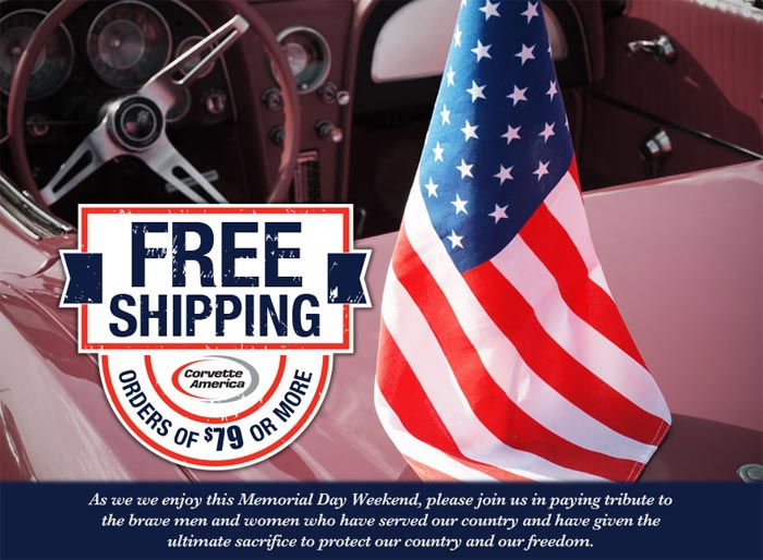 Still Time to Take Advantage of Corvette America's Free Shipping Offer