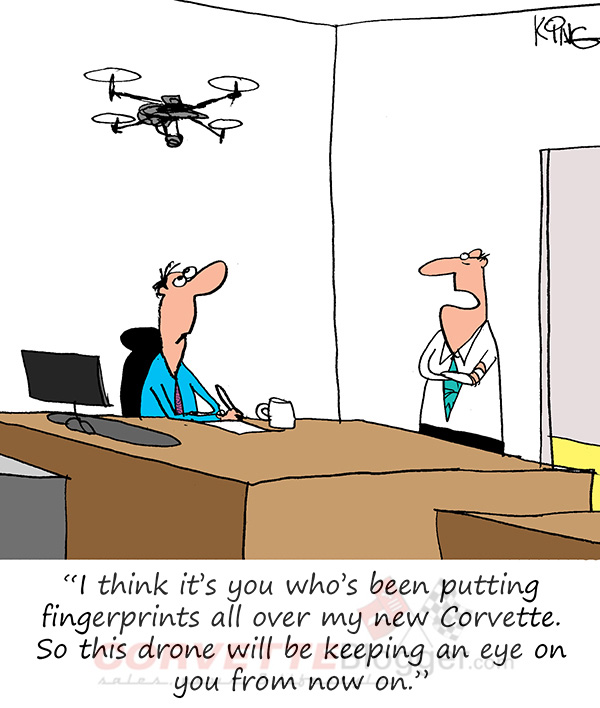 Saturday Morning Corvette Comic: Drone-Based Security Systems