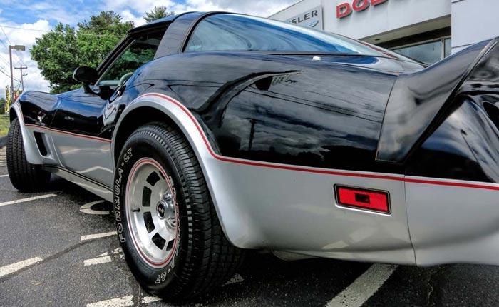 Corvettes for Sale: Never Registered 1978 Indy 500 Corvette Offered by Original Dealer
