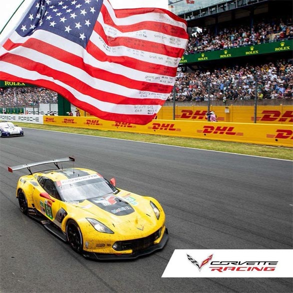Veteran Flag Flies for Corvette Racing At Le Mans for 19th Straight Year