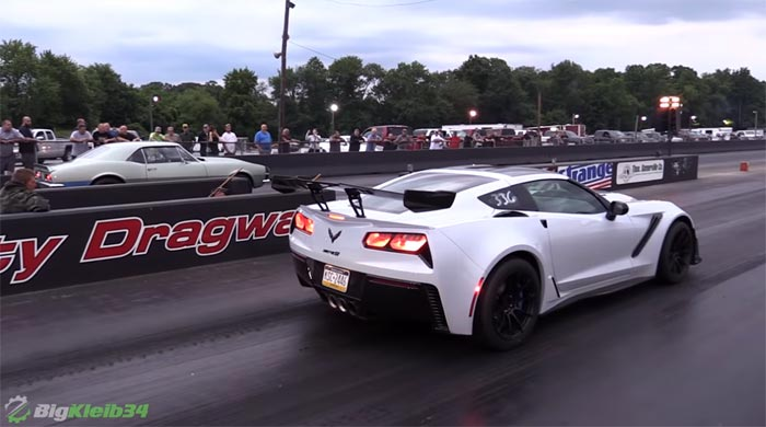 [VIDEO] Identical 2019 Corvette ZR1s Take On All Challengers at Local Drag Strip