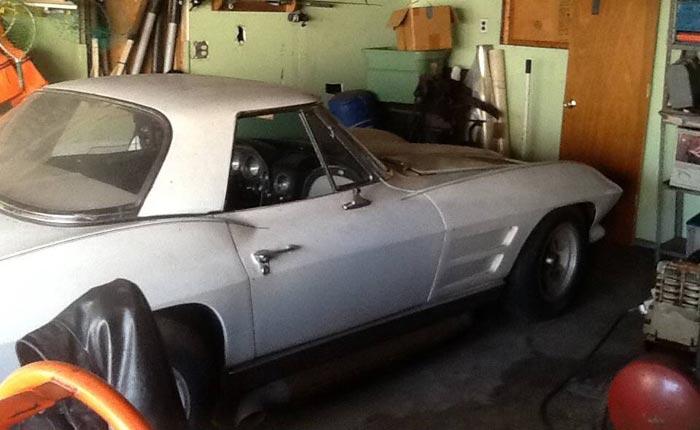 Corvettes on Craigslist: Garage Parked 1963 Corvette Sting ...