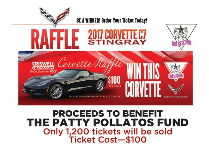 [VIDEO]    Criswell Chevrolet is to give away a Corvette Stingray 2017 in favor of the Patty Pollatos Fund