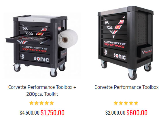 Factory Authorized Sale: SONIC Tools USA Corvette Performance Toolbox Starts at Just $600!