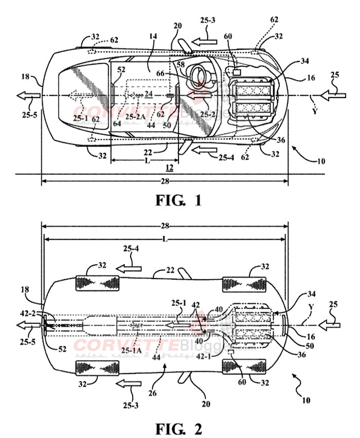 GM Patent Illustration for Downforce Generating Ducts