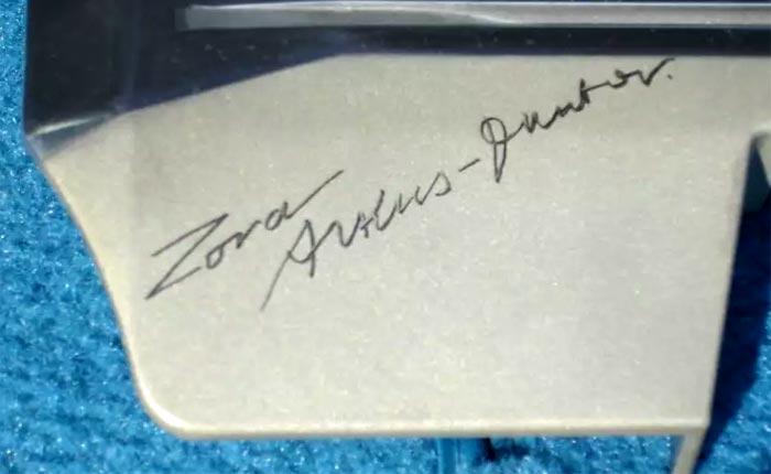 Zora's signature