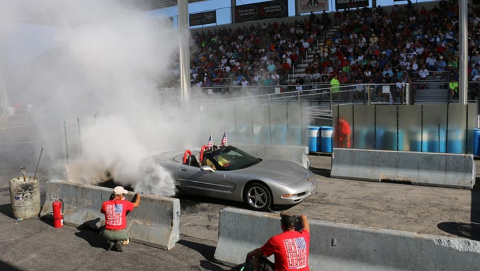 [VIDEO] The Corvette Burnout Contest at the 2018 Corvettes at Carlisle Show