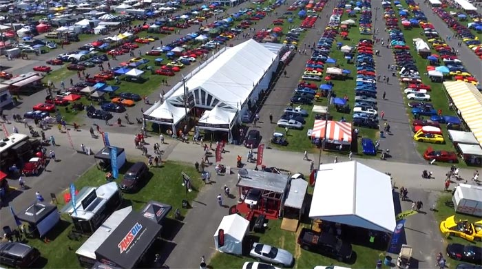 [VIDEO] Drone Footage Shows the Corvette America Flag and More from the 2018 Corvettes at Carlisle