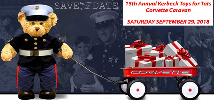 Register Now for the 15th Annual Kerbeck Toys for Tots Corvette Caravan