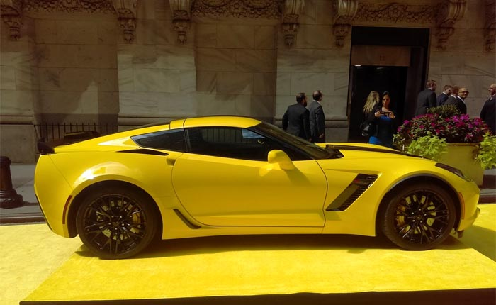 pic hertz shows off new corvette z06 rental on wall street corvette sales news lifestyle. Black Bedroom Furniture Sets. Home Design Ideas