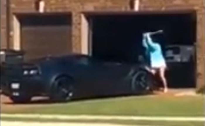 [VIDEO] Woman Bashes A New C7 Corvette ZR1 with a Baseball Bat