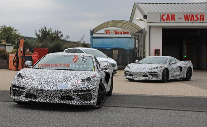 C8 Corvettes at the Nurburgring