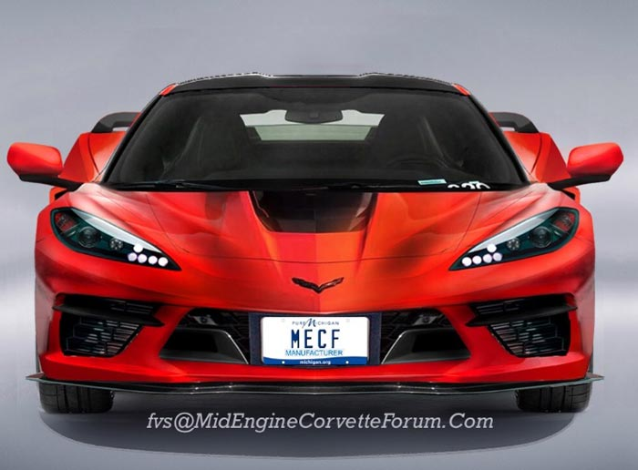 [PICS] C8 Mid-Engine Corvette ZORA Rendered With Front License Plate