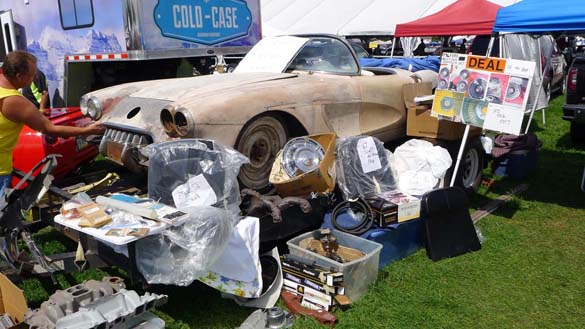 The Barn Finds and Project Cars of Corvettes at Carlisle