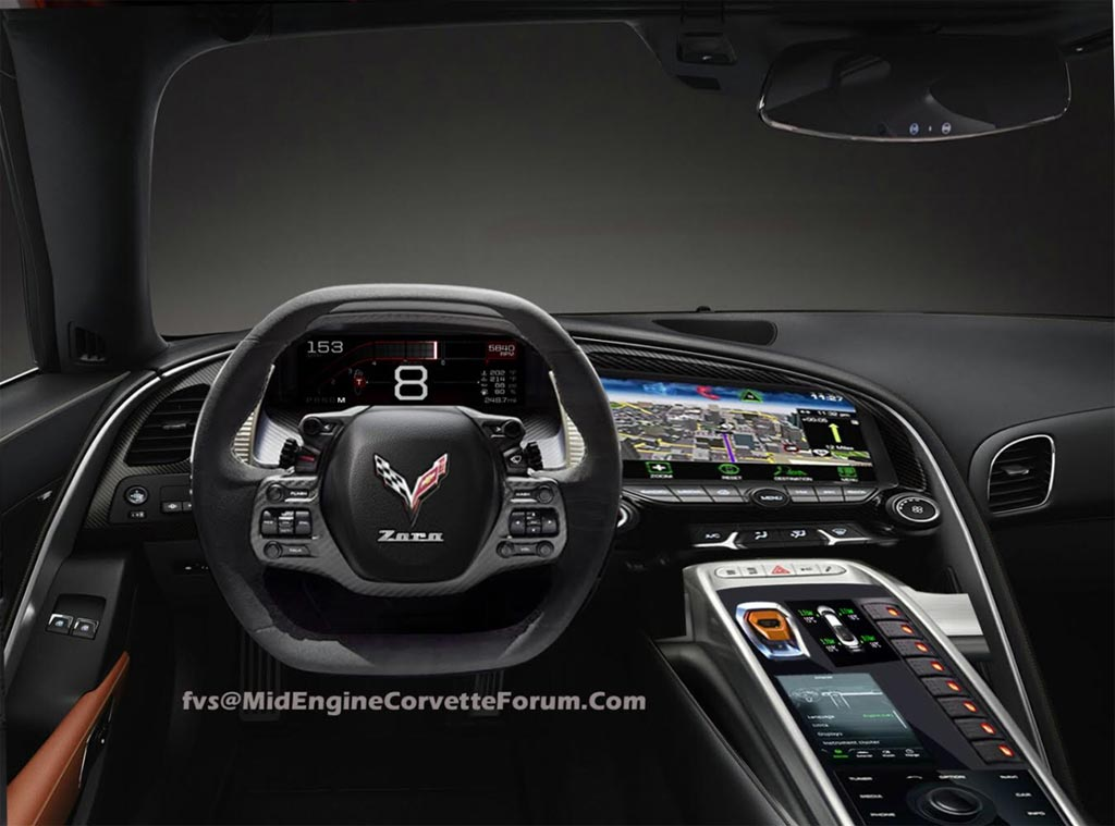 Pic First C8 Mid Engine Corvette Interior Render By Fvs Corvette