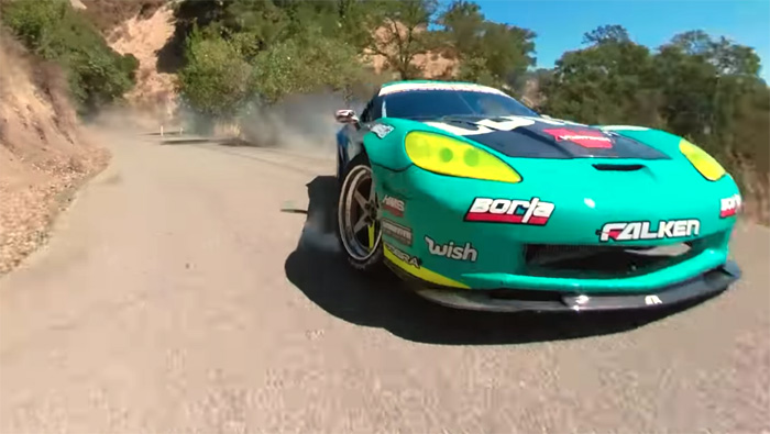 [VIDEO] Incredible Drone Footage Captures a 1060-hp Corvette Drifting Up a Mountain Road