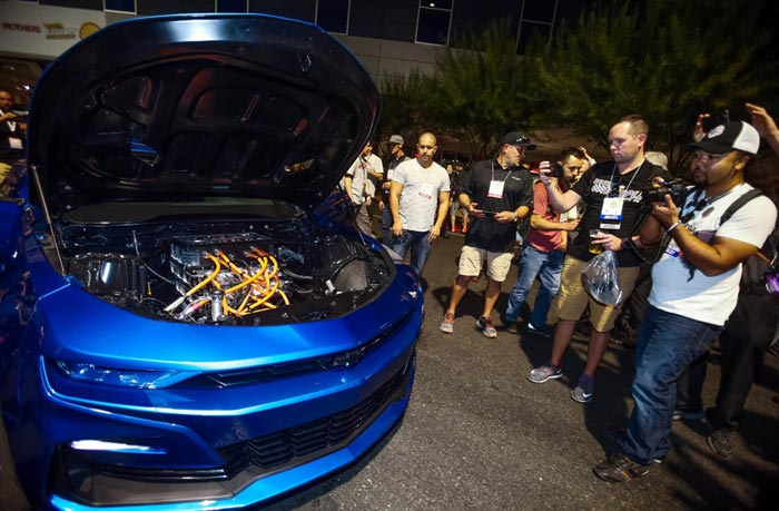 Chrevrolet Debuts eCOPO Camaro EV Drag Racer Along with Electric Crate Motors at SEMA
