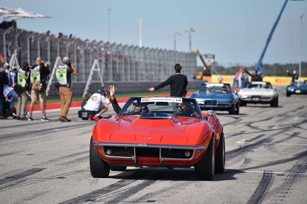 Vintage Corvettes Steal the Show at the US Grand Prix