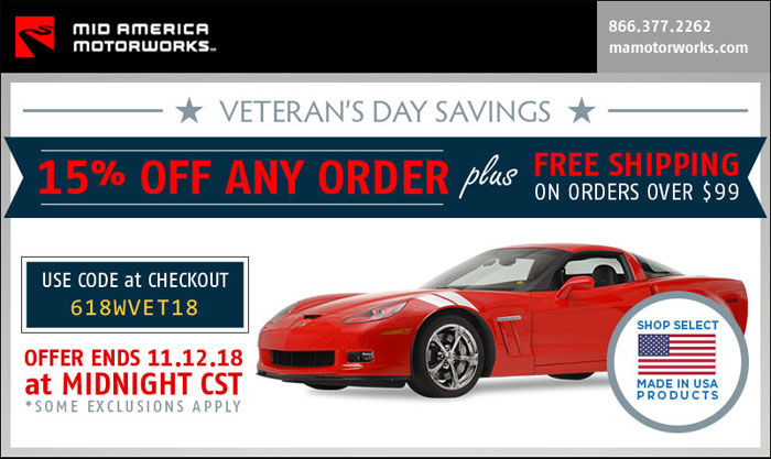 Save 15% and Get Free Shipping at Mid America Motorworks