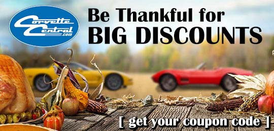 Be Thankful for Big Discounts at Corvette Central