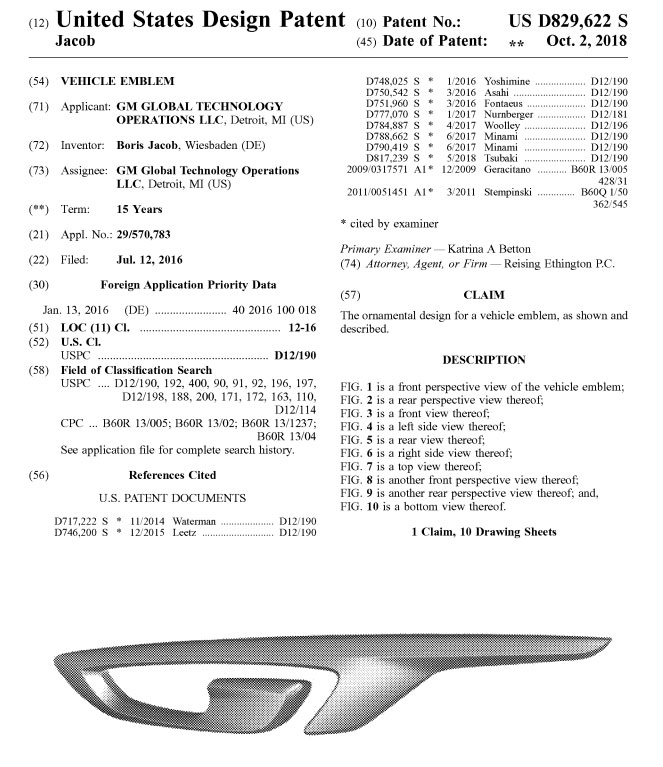 Did GM Design and Patent a New GT Emblem for the C8 Corvette?