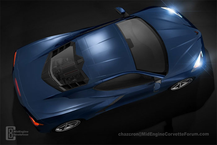 Video Chazcron S C8 2020 Mid Engine Corvette 360 Degree Render