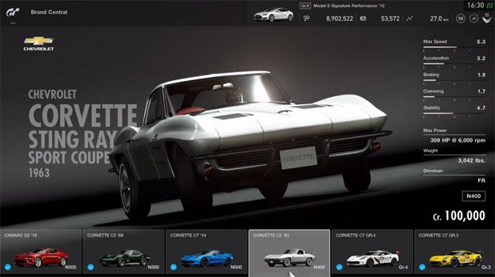 1963 Corvette in Gran Tourismo Sport