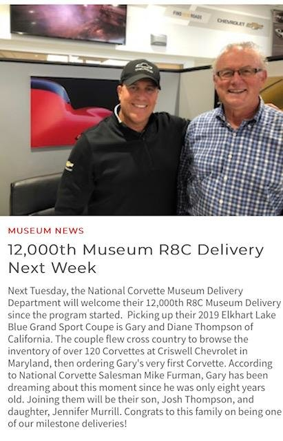 National Corvette Museum to Deliver 12,000th Corvette