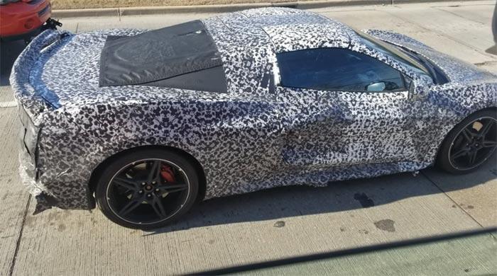 [SPIED] C8 Corvette Convertible Prototype Captured By Trucker's Video