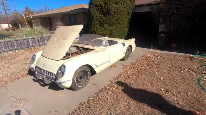 [VIDEO] This 1955 Corvette Sees Daylight after Being Parked for 40 Years