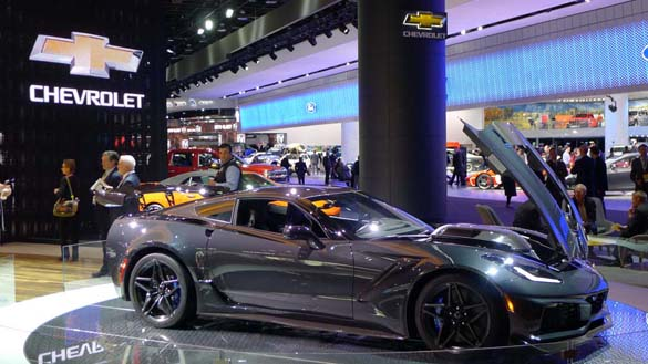 The 2019 Corvette ZR1 at the North American International Auto Show