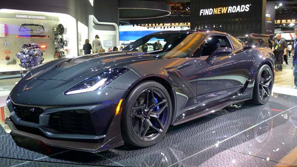 The 2019 Corvette ZR1 at the North American International Auto Show