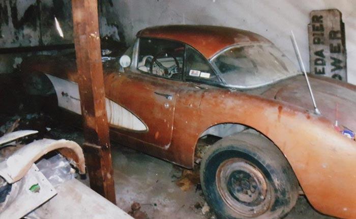 Corvettes on eBay: 1957 Fuelie Corvette Barn Find
