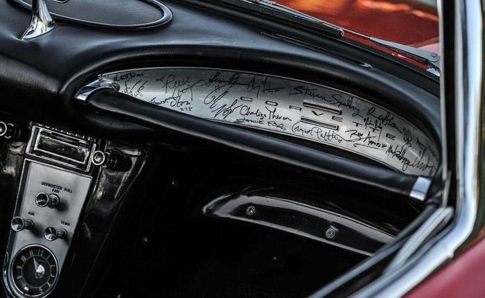 1961 Corvette With Twenty Hollywood 'A-List' Autographs Set for Bonhams' Paris Auction