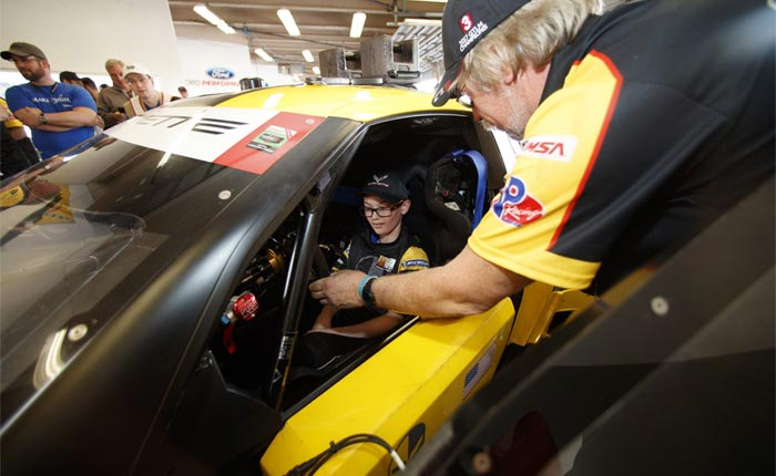 Corvette Racing 'Make a Wish' Comes True for Boy with Cancer at the Rolex 24