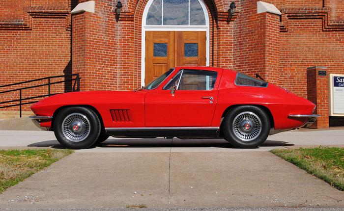 Win This 1967 Corvette in St.Bernard Church's Classic Corvette Giveaway!