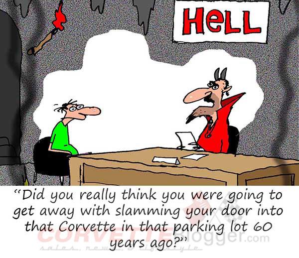 Saturday Morning Corvette Comic: Time for Car Wash?