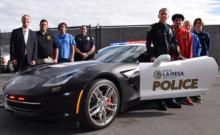 [PIC] La Mesa PD's C7 Corvette Stingray Police Car Visits High School Automotive Students