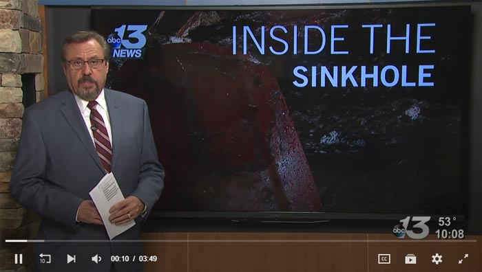 WBKO Reporter Goes Spelunking in the Corvette Museum's Sinkhole