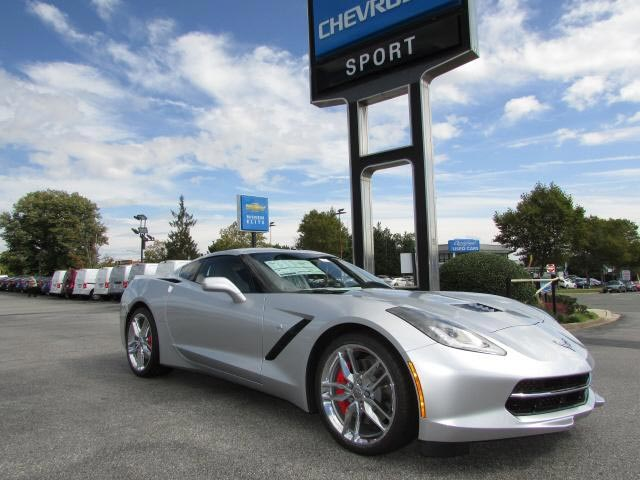 Silver 2017 Chevrolet Corvette Stingray Z51 Coupe 1LT