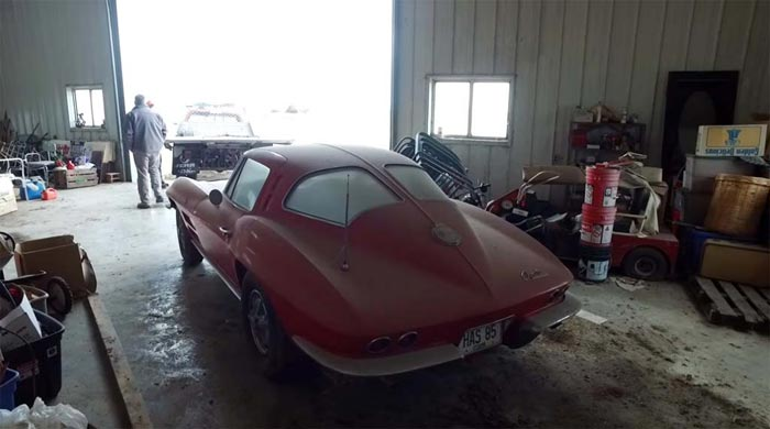 [VIDEO] Barn Find 1963 Corvette SWC to be Offered 'As-Found' at Illinois Auction