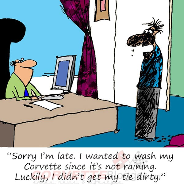 Saturday Morning Corvette Comic: When Bad Weather Keeps You From Washing Your Corvette