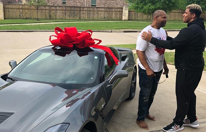 NFL's Christian Covington Surprises His Dad With a Corvette Stingray