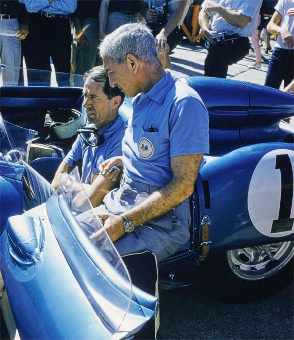 Zora with John Fitch at the 1957 12 Hours of Sebring