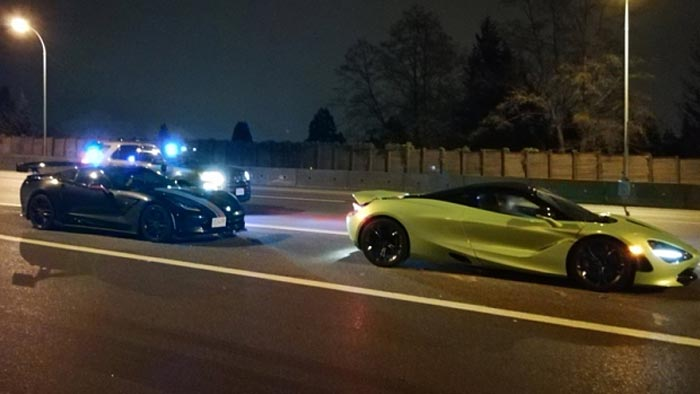 Canadian Police Impound a C7 Corvette and a McLaren for Excessive Speeding
