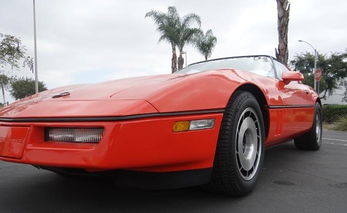 Corvettes on eBay: 1984 Corvette is One of Two Painted Hugger Orange for Jim Gilmore and AJ Foyt