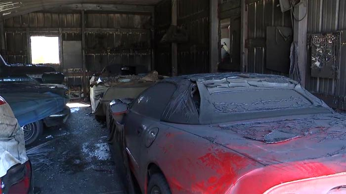 Barn Fire in Ohio Destroys a Car Collection that Includes a C5 Corvette Convertible