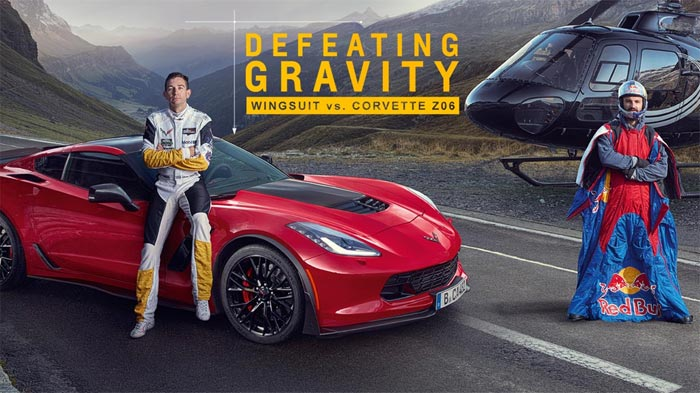 [VIDEO] Chevrolet Europe Offers Up Defeating Gravity - Wingsuit vs Corvette Z06