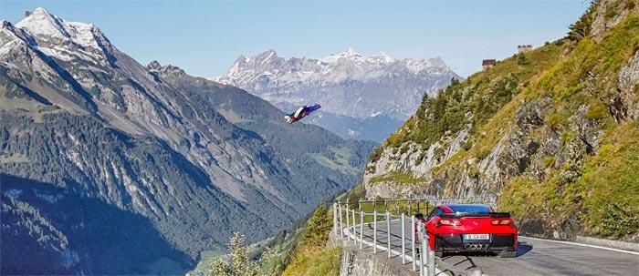 Chevrolet Europe Offers Up Defeating Gravity - Wingsuit vs Corvette Z06