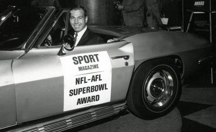 1967 Corvette for Super Bowl MVP QB Bart Starr to be Offered at Mecum Indy